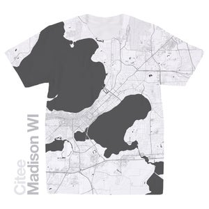 Image of Madison WI map t-shirt