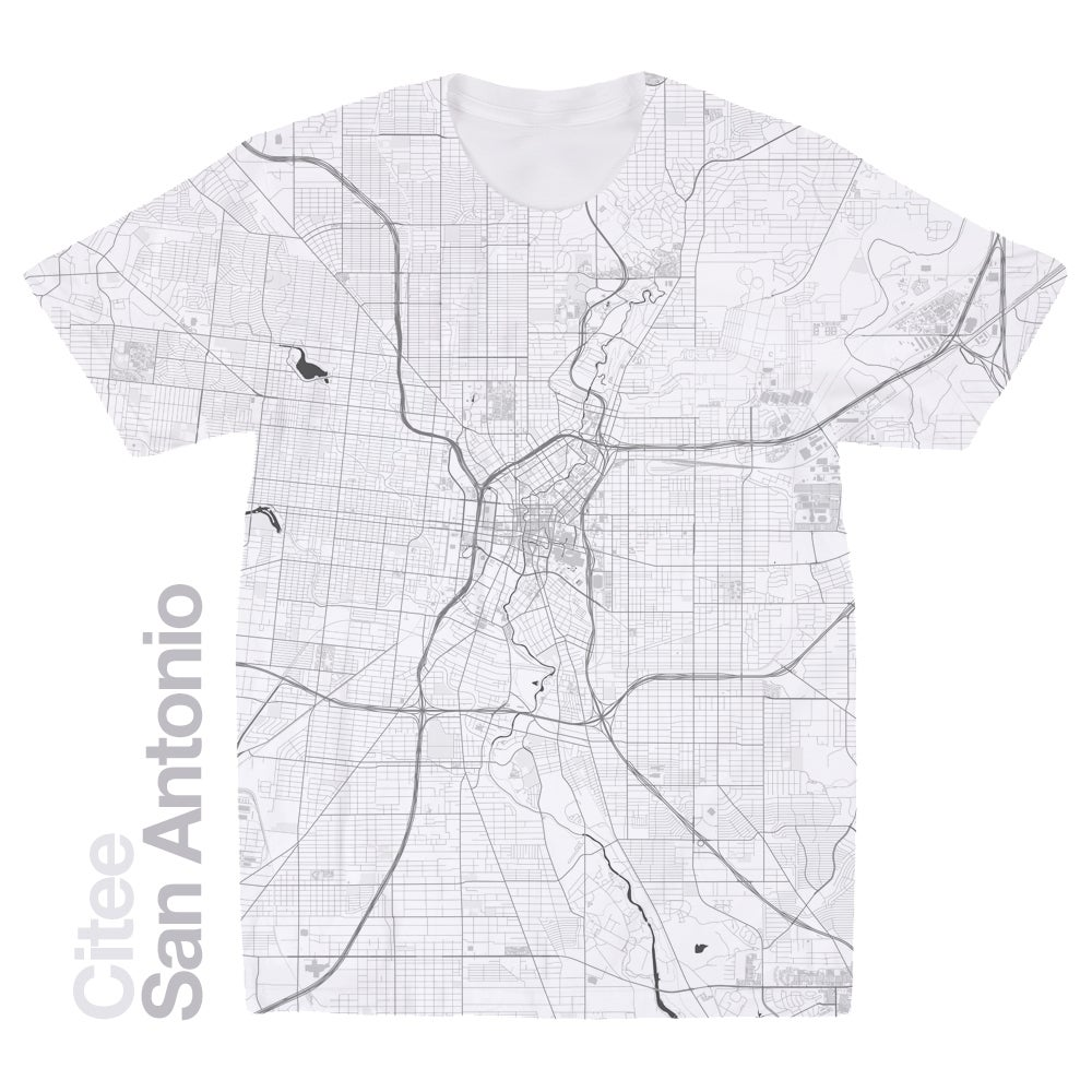 Image of San Antonio TX map t-shirt