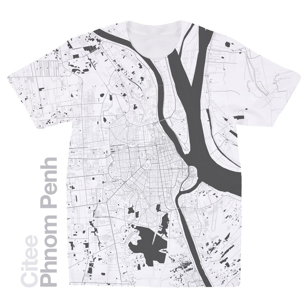 Image of Phnom Penh map t-shirt
