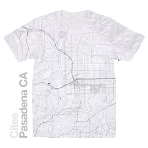 Image of Pasadena CA map t-shirt