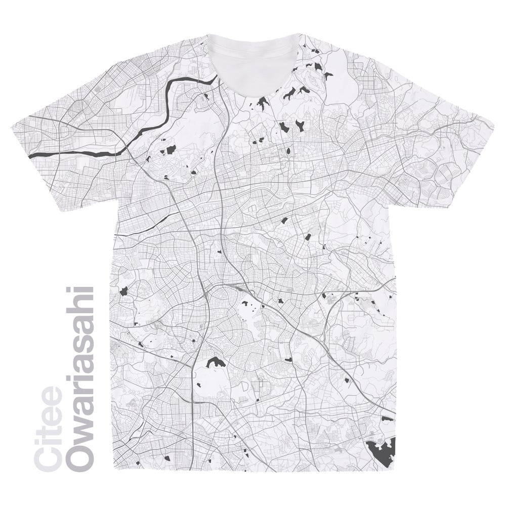 Image of Owariasahi map t-shirt