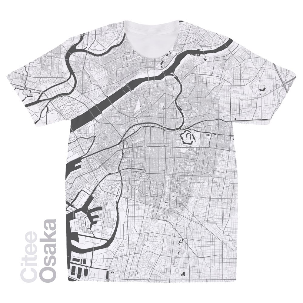 Image of Osaka map t-shirt
