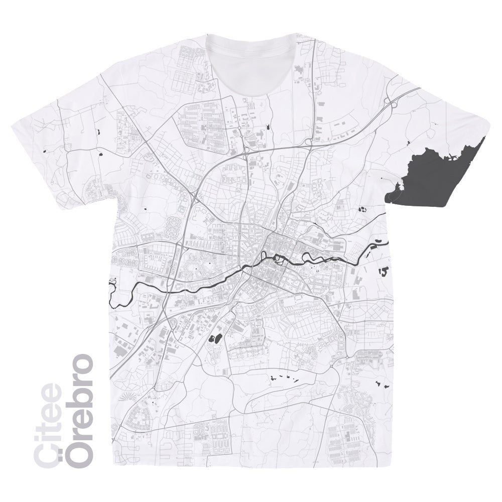 Image of Örebro map t-shirt