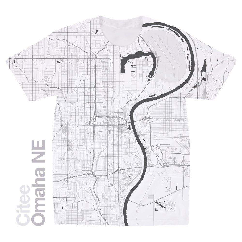 Image of Omaha NE map t-shirt