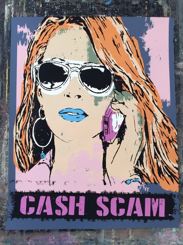 Image of Cash Scam - Hand Screen Printed Art Print
