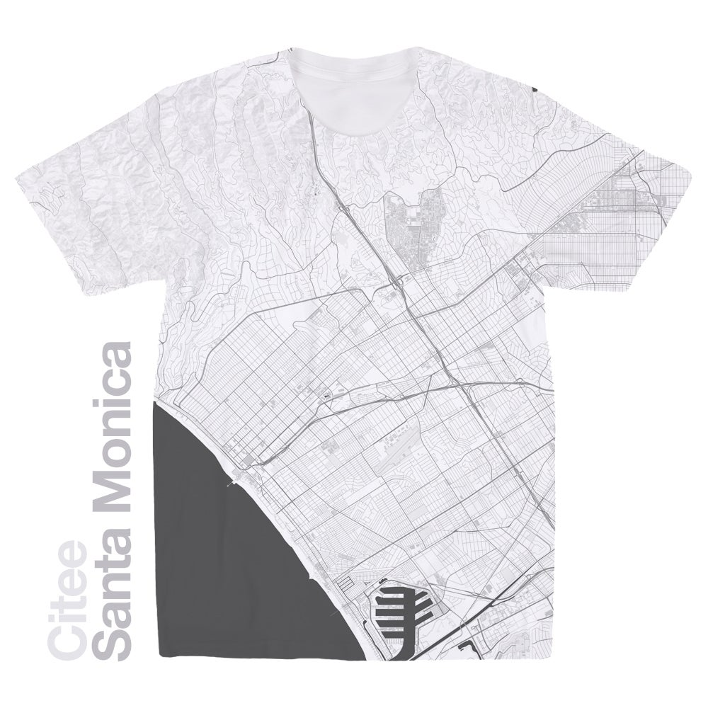 Image of Santa Monica CA map t-shirt