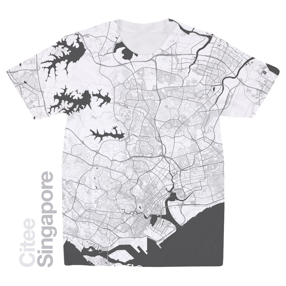 Image of Singapore map t-shirt