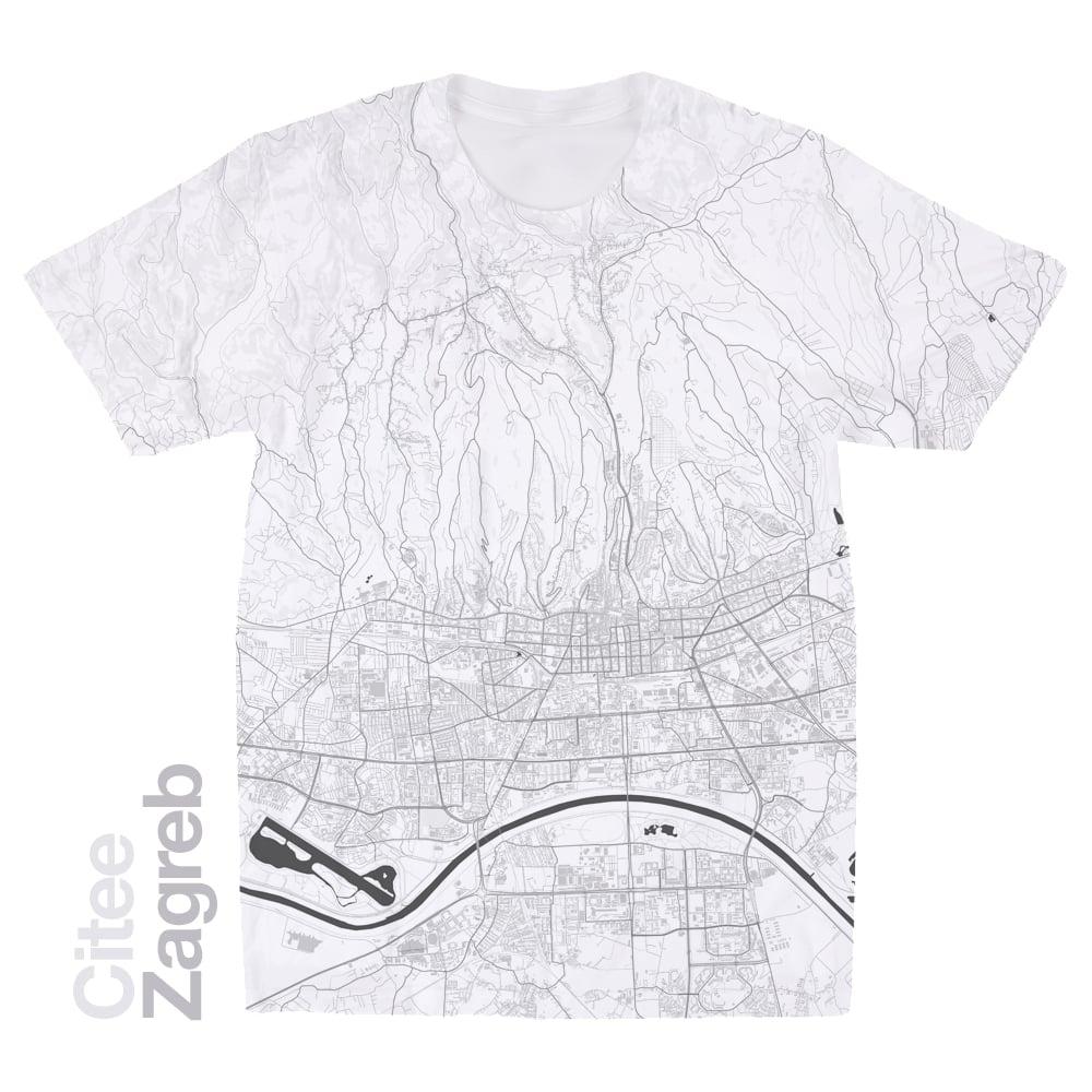 Image of Zagreb map t-shirt