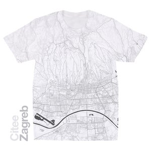 Image of Zagreb map t-shirt