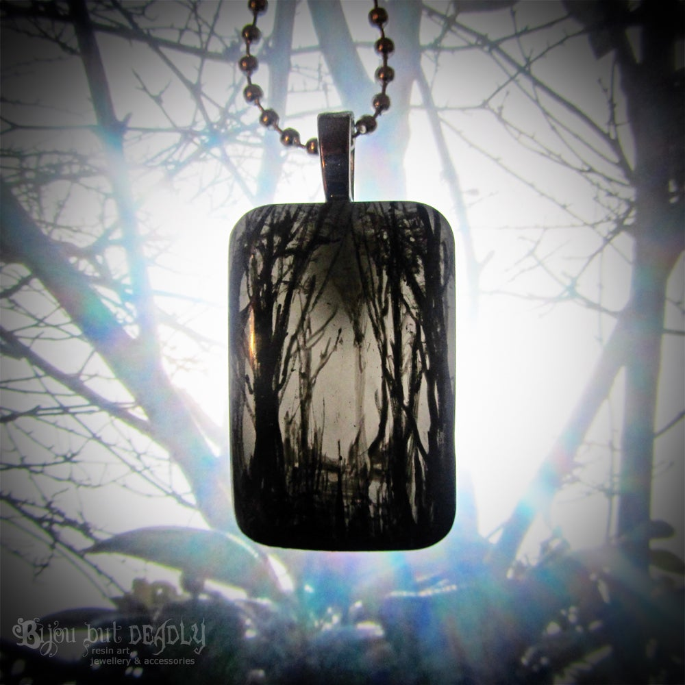 Gloomy Wood Resin Pendant