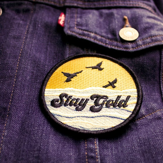Image of Stay Gold- Iron on Patch