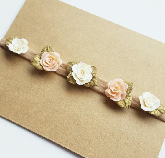 Image of Peaches & Cream Blossom Crown