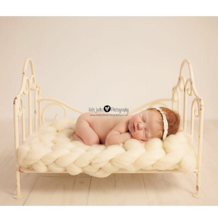Image of Bump Blanket Cream, Brown, Beige or Grey, photo prop