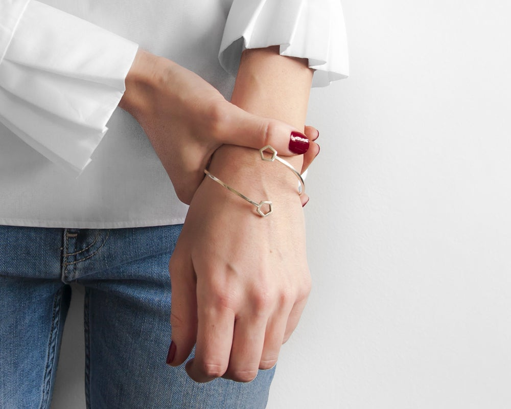 Image of Collection Miroir - Bracelet Pentagone
