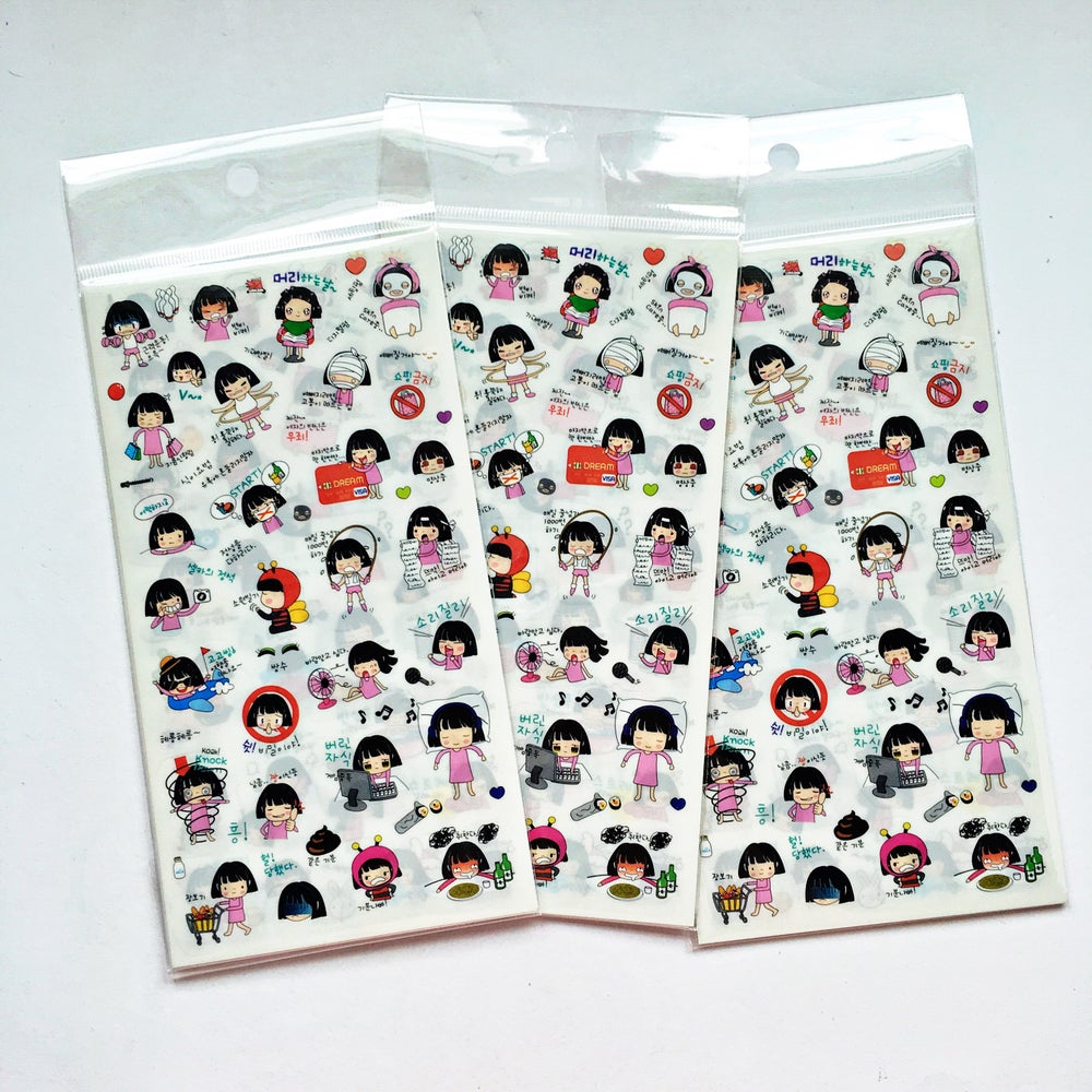 Image of Kawaii Girl Diary Stickers