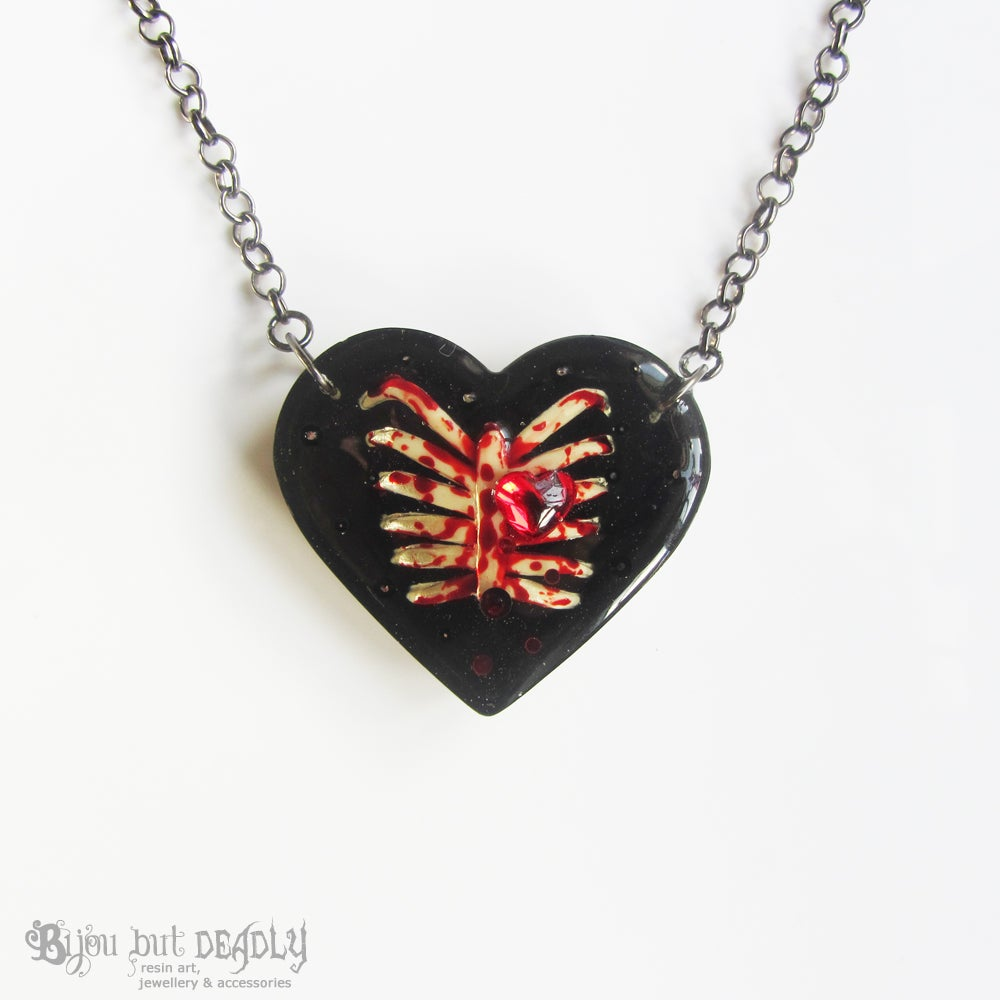 Bloody Ribs Heart Pendant