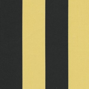 Image of FF Black and Yellow Gold Stripe Outdoor Fabric