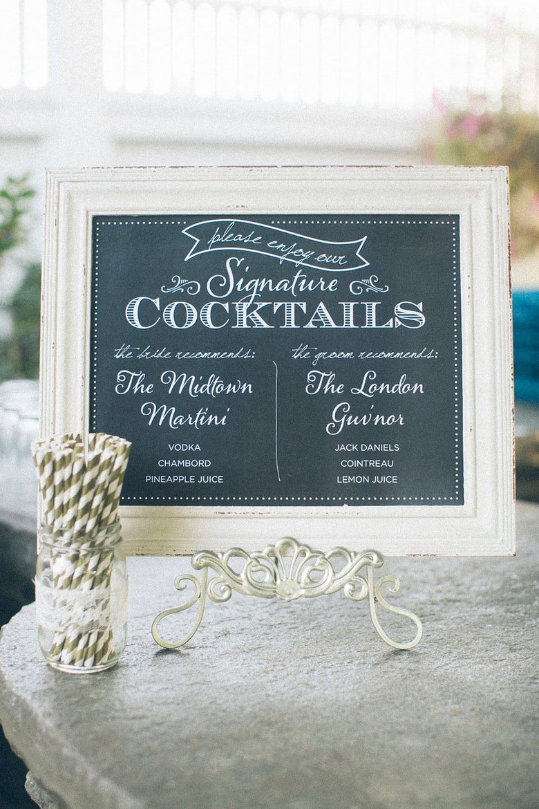 Image of Faux Chalkboard 14 x 11 Signature Drink Print