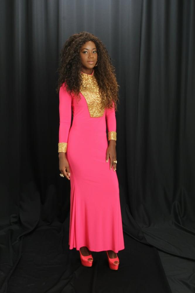 Image of Pink Kaftan Dress