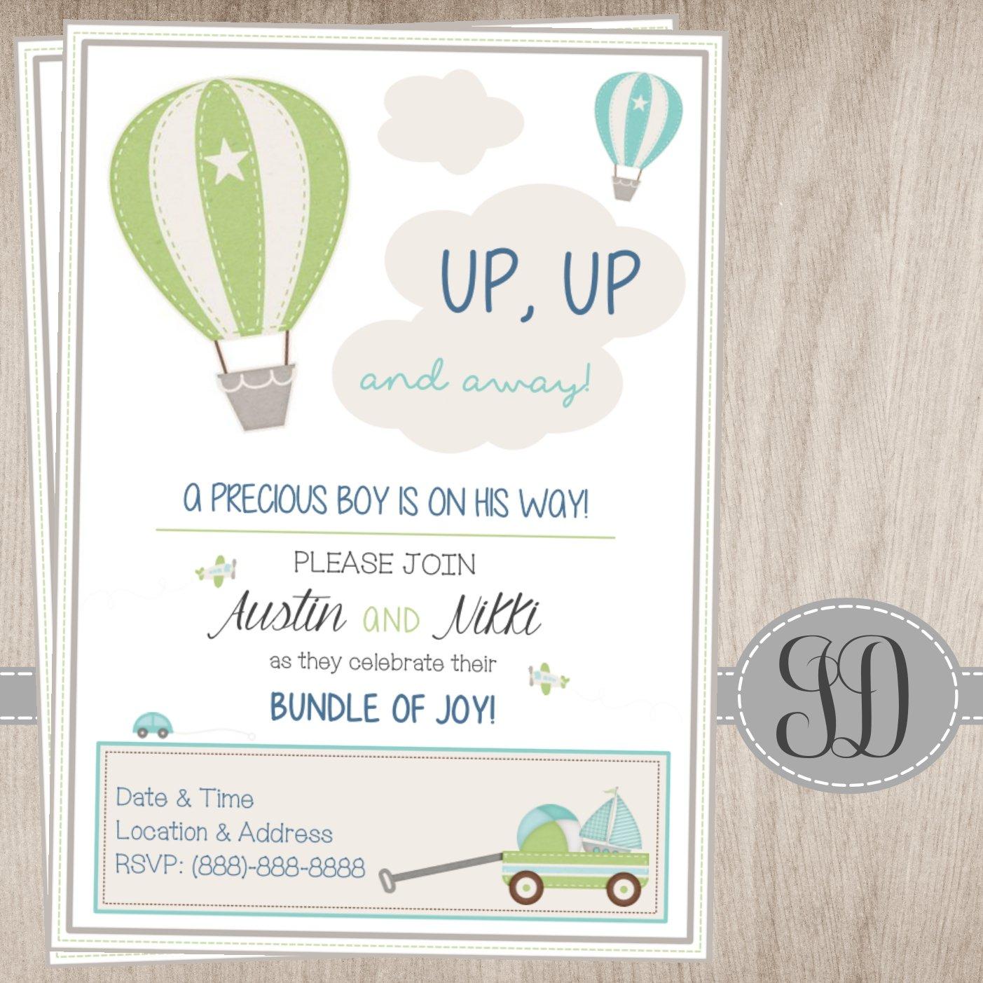 JadiDesigns — Hot Air Balloon Baby Shower Invitation