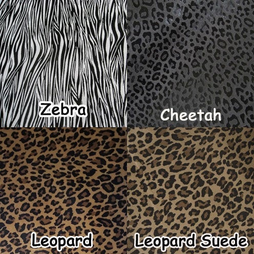 """Image of EXOTIC ANIMAL PRINT Leather Straps .5"""" (inch) Wide - Your Choice of Length, Color & Hardware #13"""