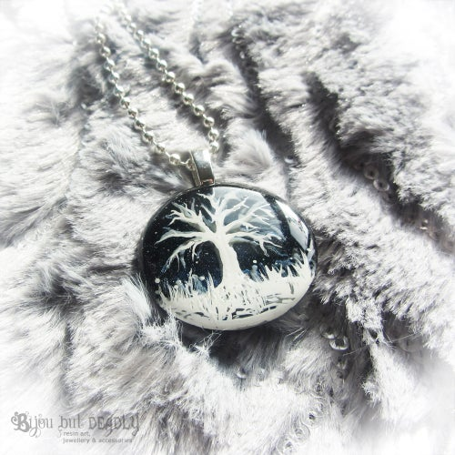 Image of Winter Scene Mini Resin Pendant
