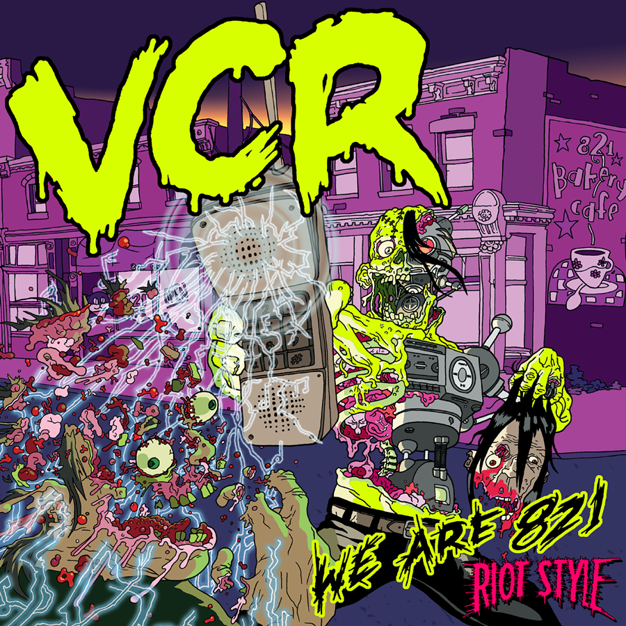 VCR (THE BAND) - WE ARE 821 (MISFITS COVERS TRIBUTE ALBUM) LP VINYL/CD/CASS/DIGITAL Out Now On Riot Style!