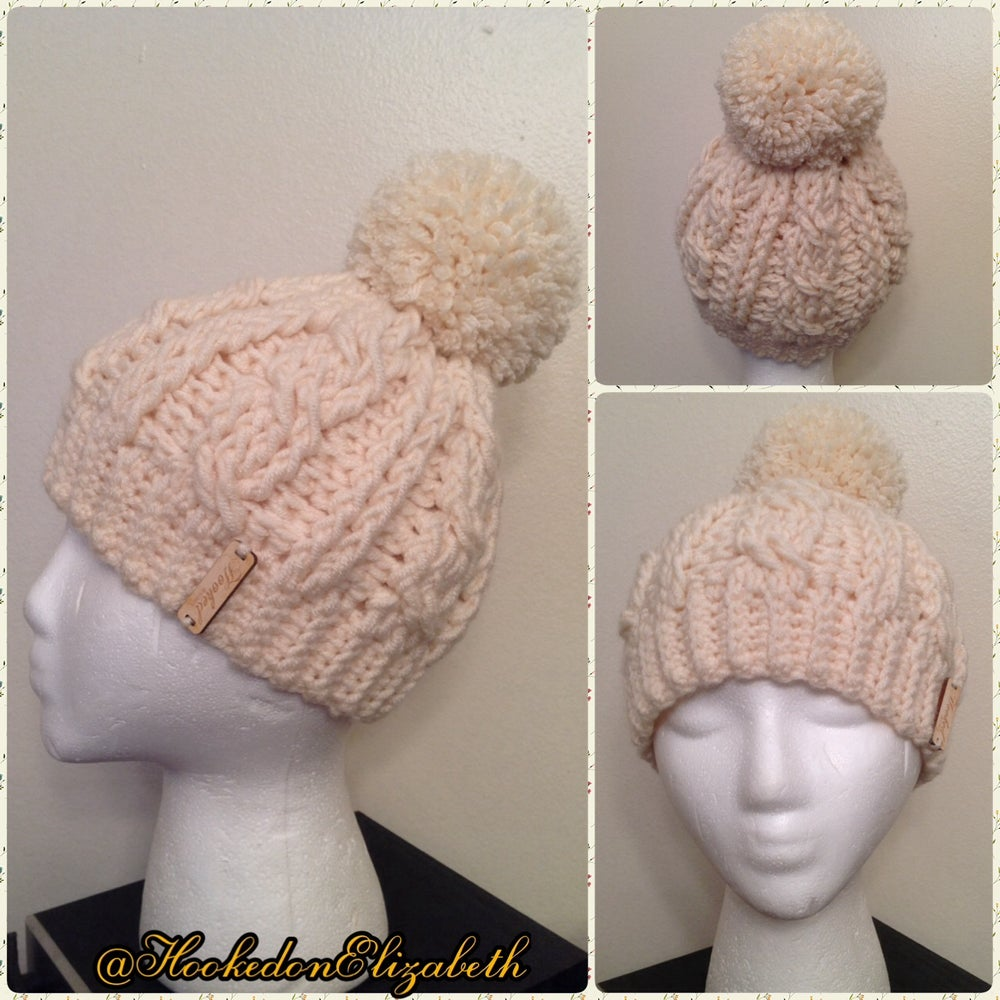 Image of Crochet Pom Pom Hat