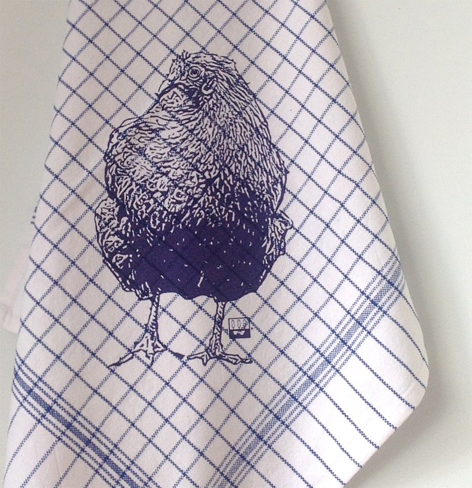 Image of Kitchen towel with CHICKEN, different colors