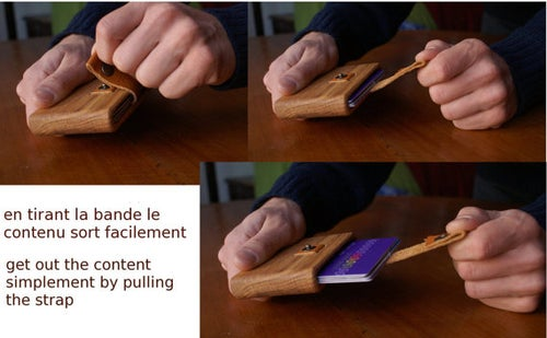 "Image of Wooden Wallet ""tirette"""