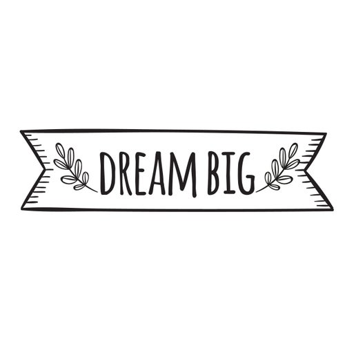 Image of Vinilo Dream big negro
