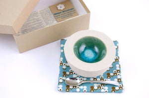Image of Boxed Salt Pot, Spoon & Coaster