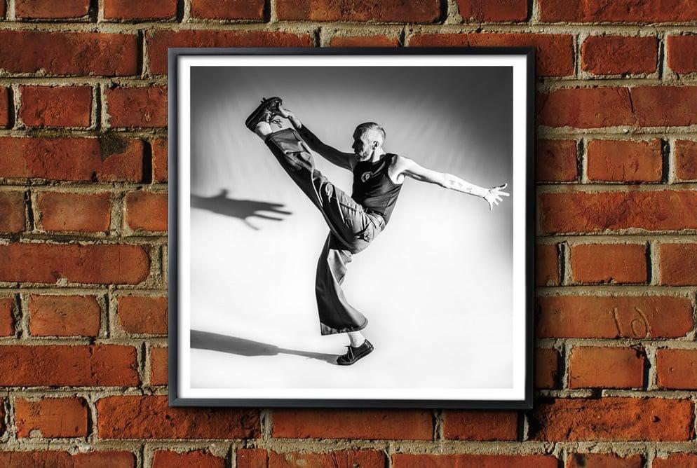 Image of 'High Kick' Framed Print