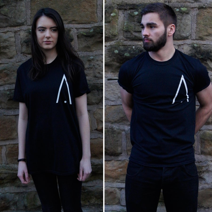 Image of Apex 'A' Print T-Shirt - Black