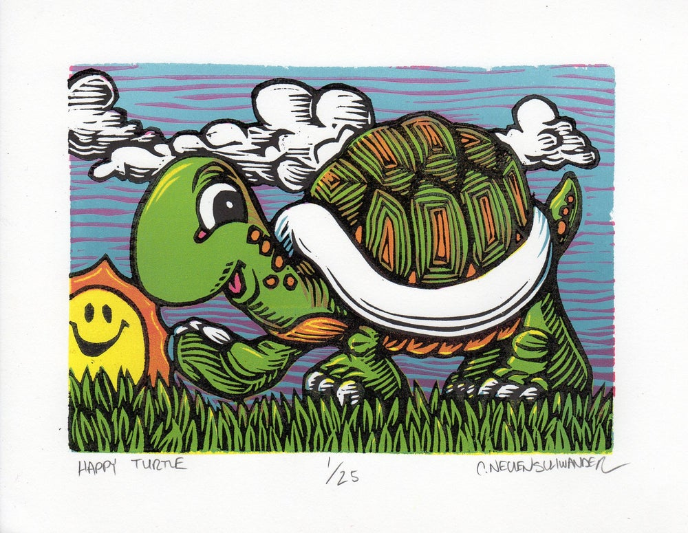 Image of Happy Turtle Print