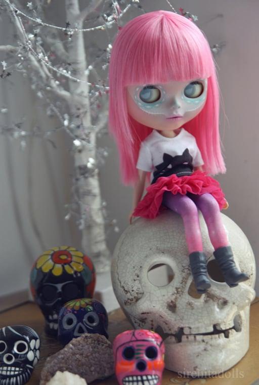 OOAK Takara Custom Blythe Doll by Sirenita Dolls: Date w/ Blythe Auction