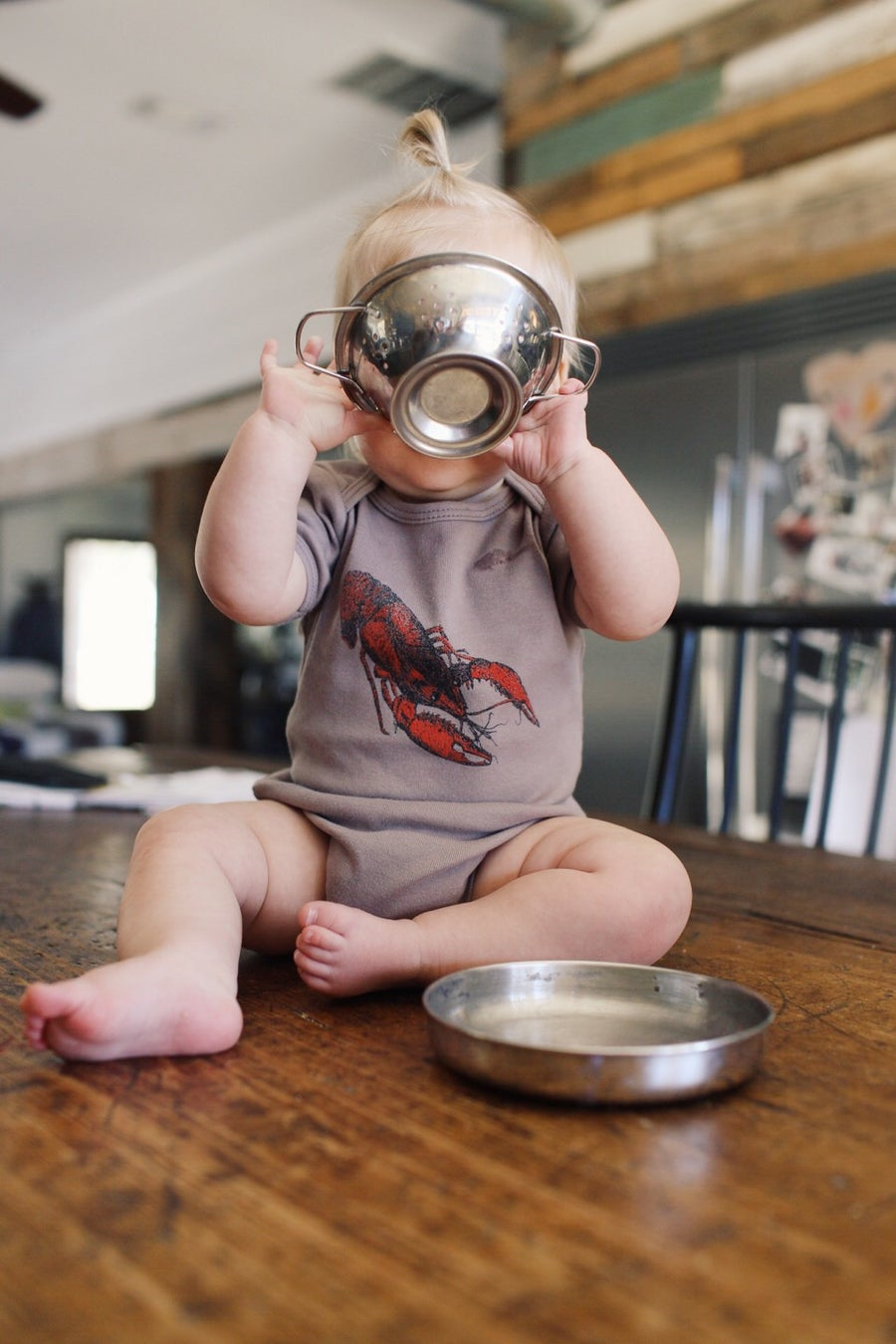 Image of Baby Crawfish Onesies on Mocha