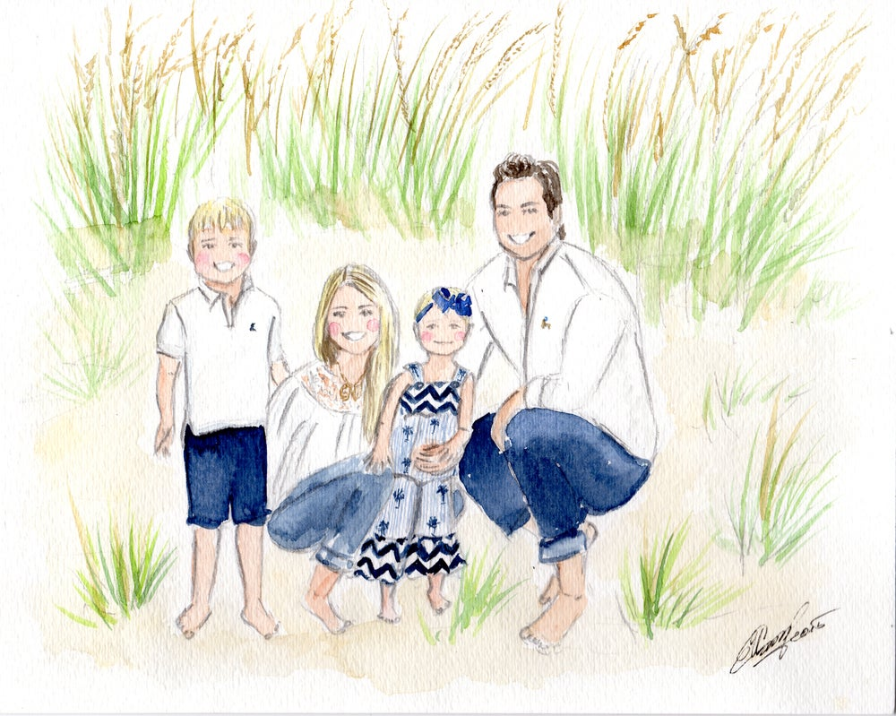 Image of Custom Family Illustrations