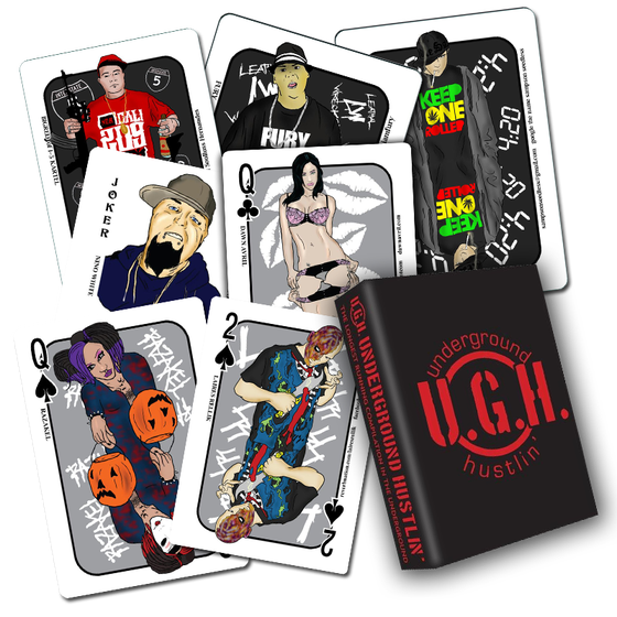 Image of THE 2013 UNDERGROUND HUSTLIN PLAYING CARD DECK!