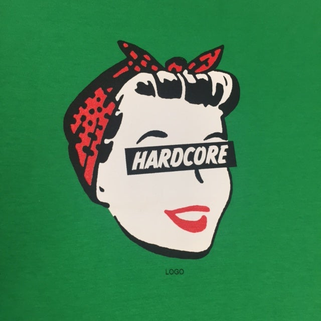 Image of Hardcore Housewife - Ladies Green T-Shirt