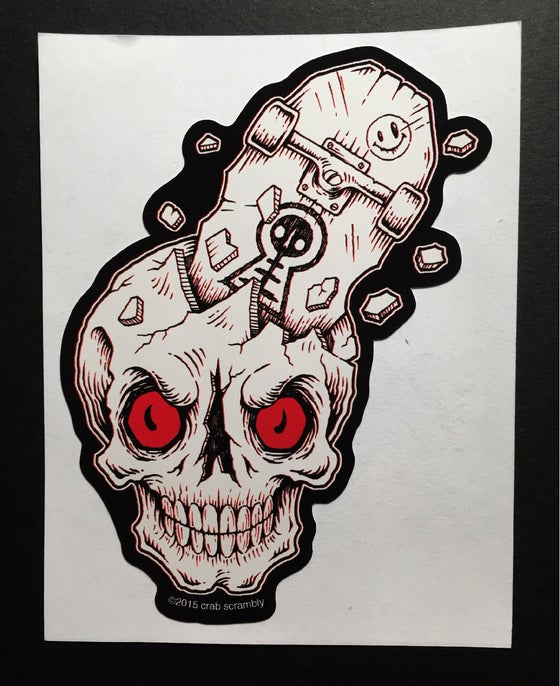 Image of SK8-SKULL STICKER