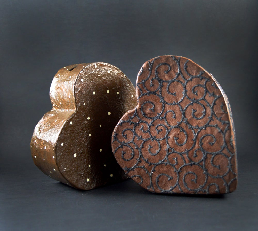 Image of Heart Chocolate money box