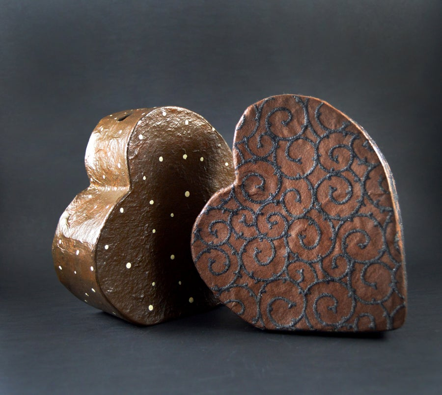 Image of Heart Chocolate money box