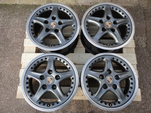 "Image of Genuine Porsche 993 Targa Speedline 2-piece Split Rim 17"" 5x130 Alloy Wheels"