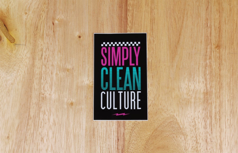 Image of Simply Clean Culture Sticker
