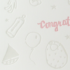 Image of Baby card - Congratulations it's a girl!