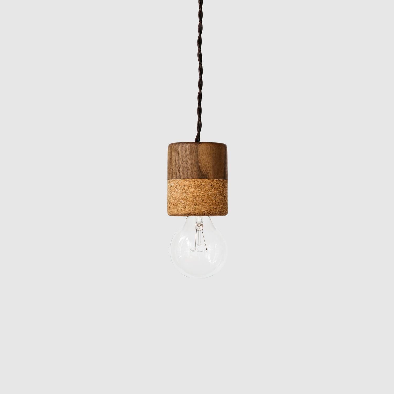 Image of Cork + Walnut Pendant Lights