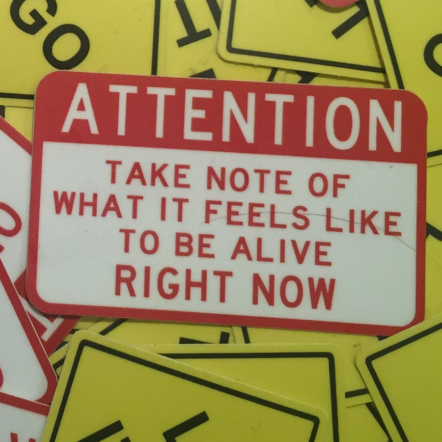 Image of Attention... Take Note Sticker