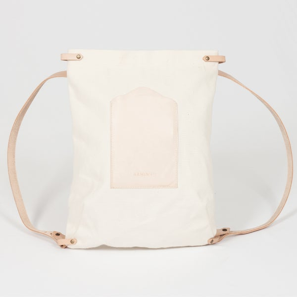 Rectangular Backpack - canvas - arminho