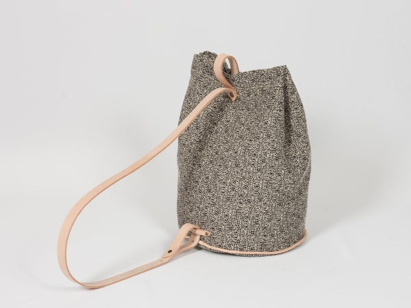 Bucket Bag - black pattern  - arminho